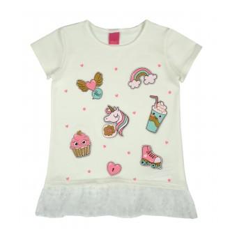 bluzeczka dziewczęca krótki rękaw - A-8238
