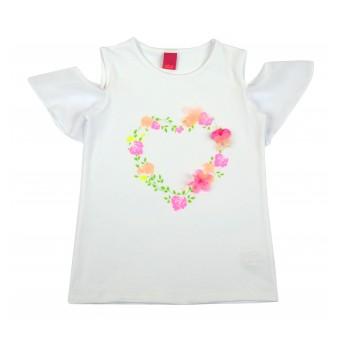 bluzeczka dziewczęca krótki rękaw - A-8221