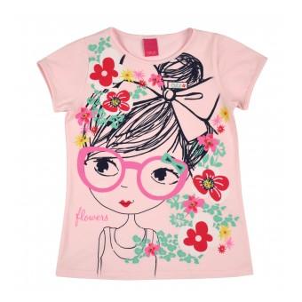 bluzeczka dziewczęca krótki rękaw - A-8225
