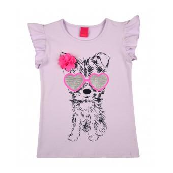 bluzeczka dziewczęca krótki rękaw - A-8235
