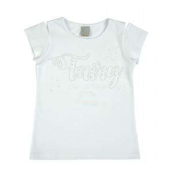 bluzka dziewczęca z wycięciem na ramionkach - A-8253