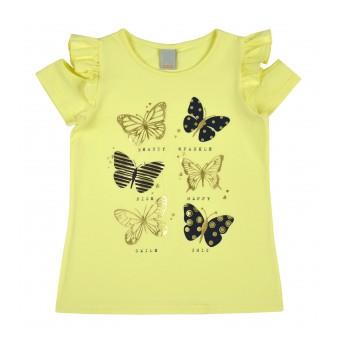 bluzka dziewczęca z wycięciem na ramionkach - A-8247
