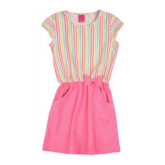 neonowa sukienka dziewczęca z gumeczką - A-8270