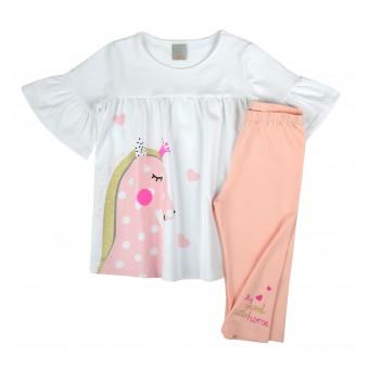 modny komplet dziewczęcy - A-8245