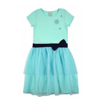 sukienka z tiulem - A-8204