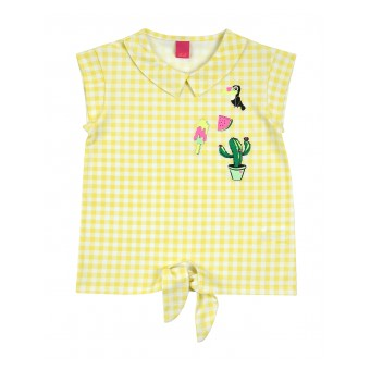 bluzka dziewczęca krótki rękaw - A-8263