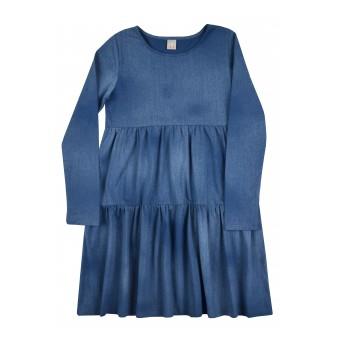 sukienka dziewczęca a`la jeans - A-8312