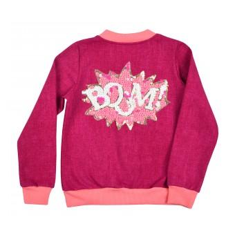 bluza dziewczęca długi zamek - A-8292