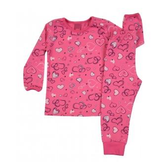 mięciutka  piżamka dziewczęca długi rękaw - A-7935
