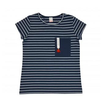 bluzka dziewczęca krótki rękaw - A-8402