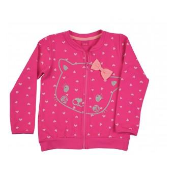 ciepła bluza dziewczęca długi zamek - A-8360