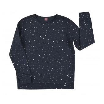 ciepła bluza w srebrne gwiazdki - A-7852