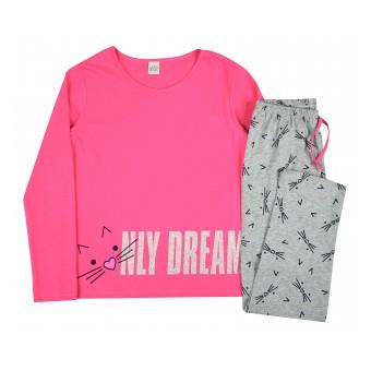 piżama dziewczęca długi rękaw - A-8281