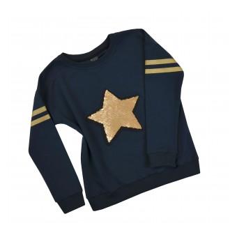 bluza z odwracanymi cekinami - A-8473