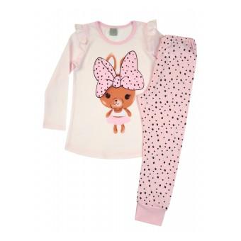 piżamka dziewczęca długi rękaw - A-8296