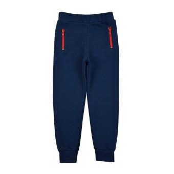 ciepłe spodnie chłopięce z kieszonkami na suwak