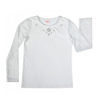 bluzka z koronkowymi rękawami
