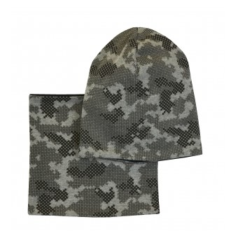 zimowy komplet czapka+komin