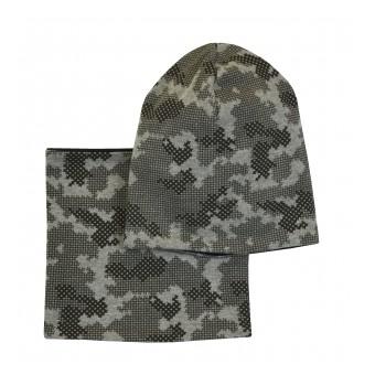 zimowy komplet czapka+komin - GT-7024