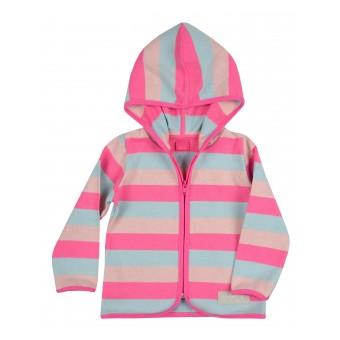 sweterek dziewczęcy długi zamek - A-8496
