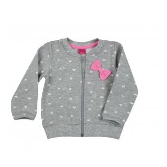 ciepła bluza dziewczęca długi zamek - A-8458