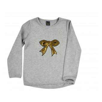 sweterek z cekinową kokardą - A-8552