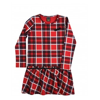 sukienka dziewczęca w modną kratkę - A-8584