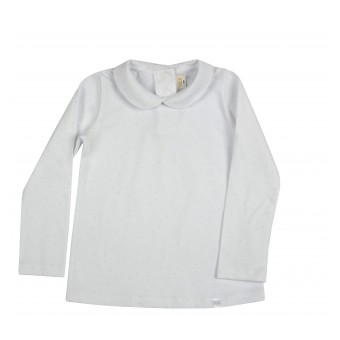 bluzka dziewczęca z kołnierzykiem - A-8639