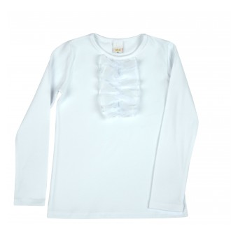 elegancka bluzeczka dziewczęca długi rękaw - A-8658