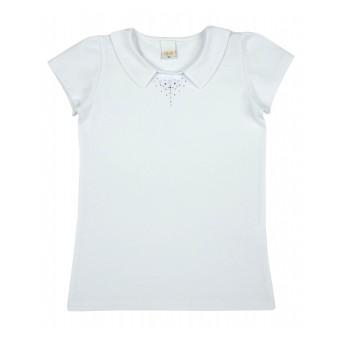 bluzka dziewczęca z kołnierzykiem - A-8736