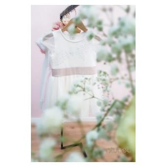 sukienka dziewczęca z tiulem - A-8744