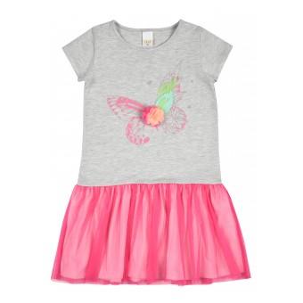 sukienka dziewczęca z tiulem - A-8838