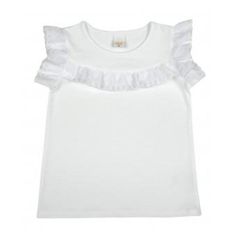 bluzeczka dziewczęca krótki rękaw - A-8846