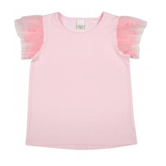bluzka dziewczęca z rękawkami z tiulu - A-8843