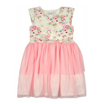 sukienka z tiulem - A-8853