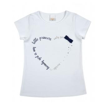 bluzeczka dziewczęca krótki rękaw - A-8857