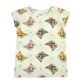 bluzka dziewczęca krótki rękaw - A-8845