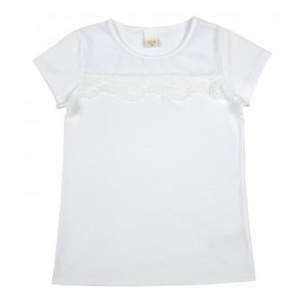 bluzka dziewczęca z koronką - A-8905