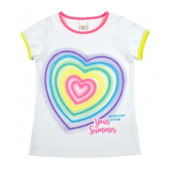 bluzeczka dziewczęca krótki rękaw - A-8901