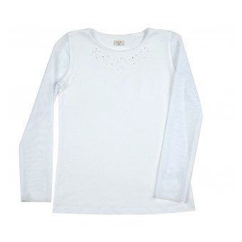bluzka z przezroczystymi rękawami - A-8952