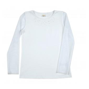 bluzka z przezroczystymi rękawami - A-8953