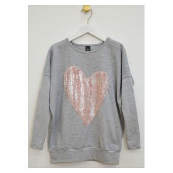 sweterek z mięciutkim serduszkiem - A-9077