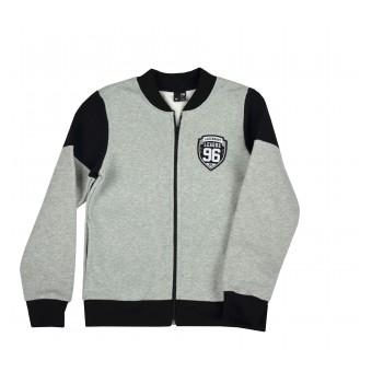 ciepła bluza młodzieżowa długi zamek - GT-7788