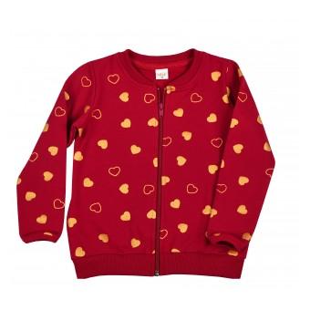 ciepła bluza dziewczęca długi zamek - A-9114