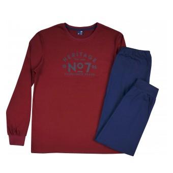 piżama męska długi rękaw - GT-7841