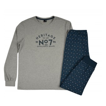 piżama męska długi rękaw - GT-7643