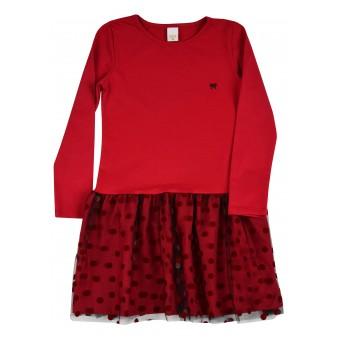 sukienka z tiulem - A-9126