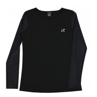 bluzka z rękawami z siateczki - A-9180