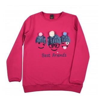 ciepła bluza dziewczęca - A-9079