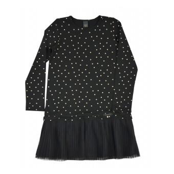 sukienka dziewczęca w błyszczące groszki - A-9164